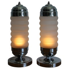 Pair of Art Deco Boudoir Lamps