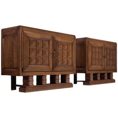 Pair of Art Deco Cabinets by Gaston Poisson