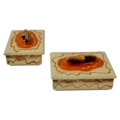 Pair of Art Deco Ceramic Boxes
