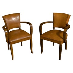 Pair of Art Deco Chairs by OXEDOU