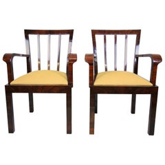 Pair of Art Deco Chairs Newly Upholstered, Austria, circa 1930