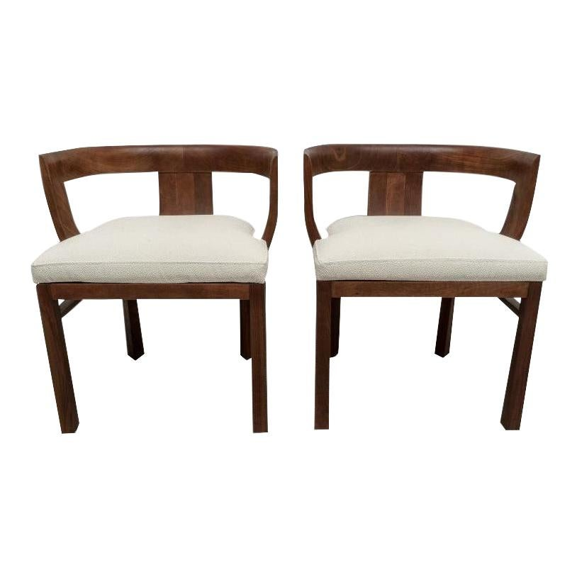 Pair of Art Deco Chairs, Upholstered in Faux Shagreen