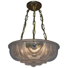 Pair of Art Deco Chandelier by Muller Freres