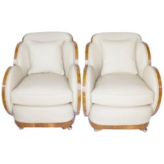 Pair of Art Deco Cloud Back Chairs by Harry & Lou Epstein English, circa 1930