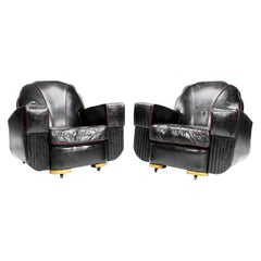 Pair of Art Deco Club Armchairs