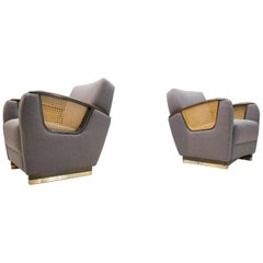 Pair of Art Deco Club Chairs, 1940s, Italy