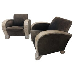 Pair of Art Deco Club Chairs Argentina, circa 1935
