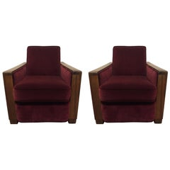 Pair of Art Deco Club Chairs Attributed to Jacques Adnet