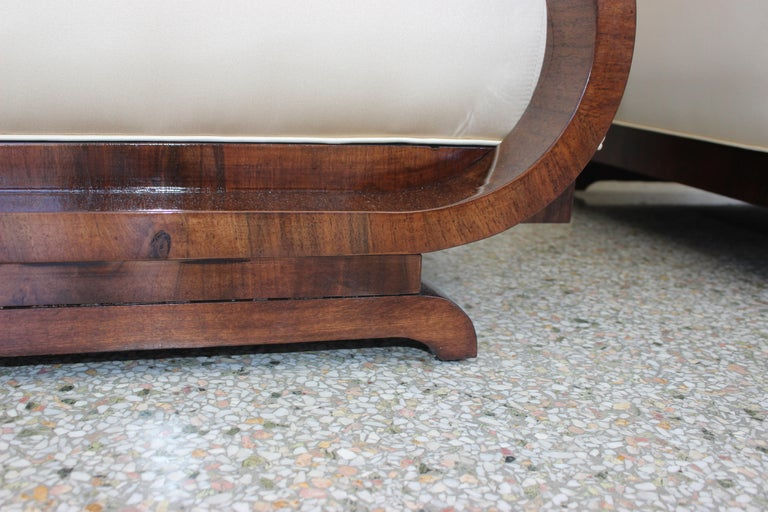 Pair of Art Deco Club Chairs Attributed to Jindřich Halabala For Sale 4