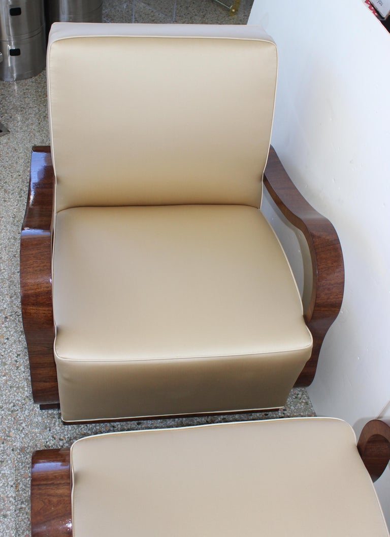 Pair of Art Deco Club Chairs Attributed to Jindřich Halabala For Sale 2