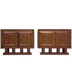 Pair of Art Deco Credenzas by Gaston Poisson