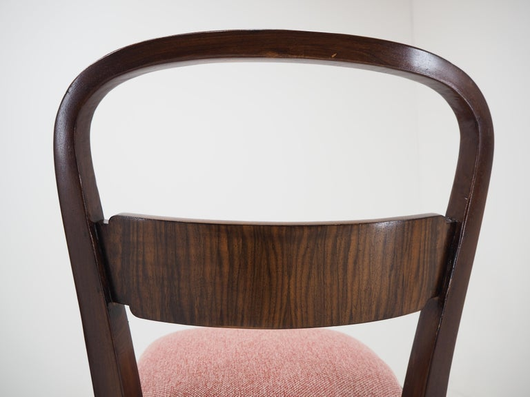 Pair of Art Deco Dining Chairs by Jindrich Halabala, Czechoslovakia, 1940 For Sale 4