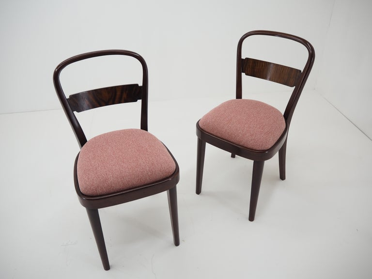 Pair of Art Deco Dining Chairs by Jindrich Halabala, Czechoslovakia, 1940 For Sale 7