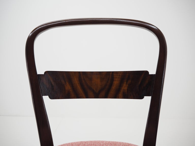 Mid-20th Century Pair of Art Deco Dining Chairs by Jindrich Halabala, Czechoslovakia, 1940 For Sale