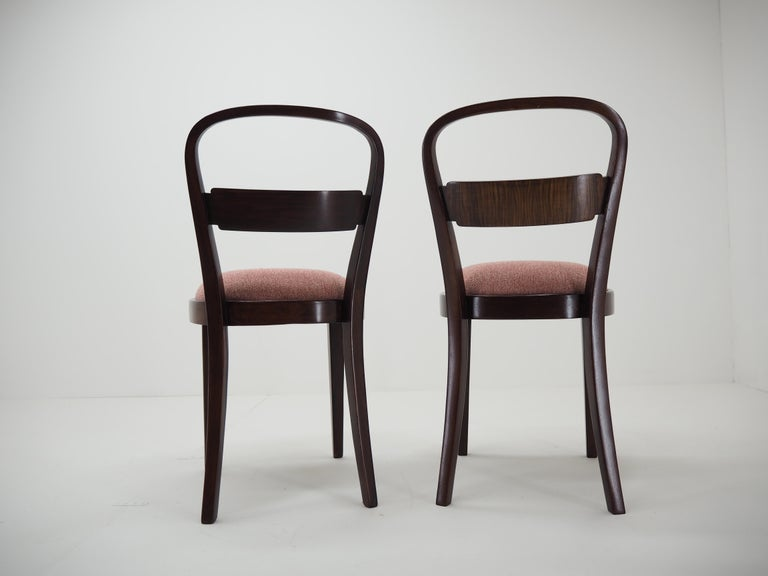 Pair of Art Deco Dining Chairs by Jindrich Halabala, Czechoslovakia, 1940 For Sale 2