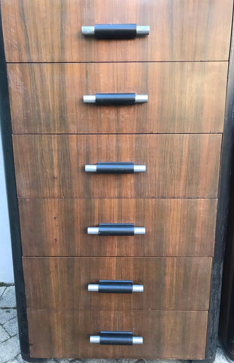 Pair of Art Deco Donald Deskey Dressers for Valentine Seaver Co, Circa 1930 For Sale 9