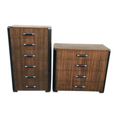 Pair of Art Deco Donald Deskey Dressers for Valentine Seaver Co, Circa 1930