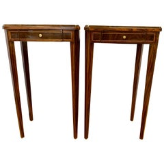 Pair of Art Deco End Side Occasional Tables with Inlay