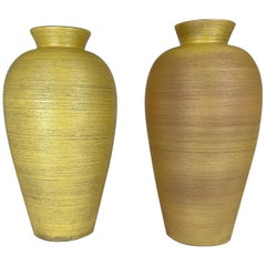 Pair of Art Deco Floor Vases by Upsala Ekeby, Sweden, 1940s