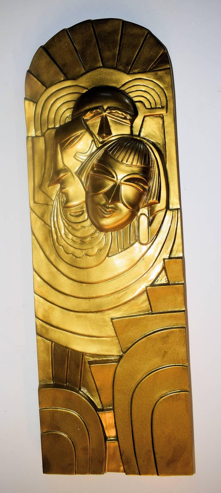 Pair of Art Deco 'Folies Bergeres' Wall Plaques For Sale 4