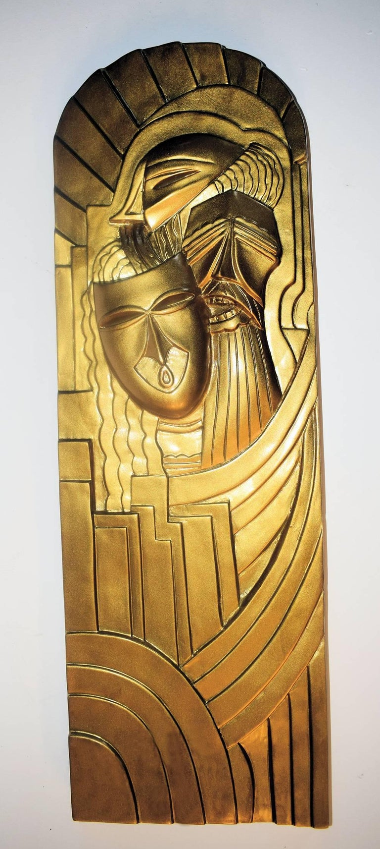 Pair of Art Deco 'Folies Bergeres' Wall Plaques For Sale 2