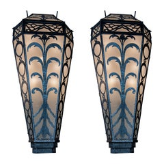 Pair of Art Deco Style French Apliques