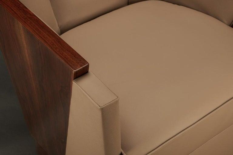Paar Art Deco französische Sessel in Nussbaum 6