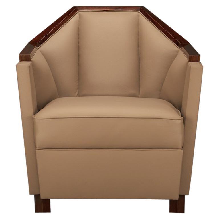 Paar Art Deco französische Sessel in Nussbaum 1