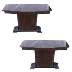 Pair of Art Deco French Console Tables