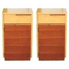 Pair of Art Deco Gilbert Rohde for Herman Miller Bird's-Eye Maple Nightstands