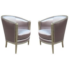 Pair of Art Deco Giltwood Armchairs