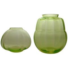 Pair of Art Deco Glass Vases
