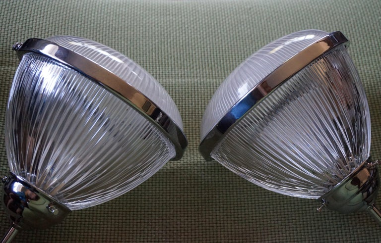 Pair of Art Deco Holophane Pendant Lights Made in England 1909 with New Rods For Sale 3