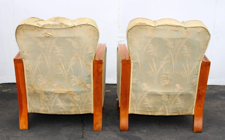 Mid-20th Century Pair of Art Deco Hungarian Club Chairs For Sale