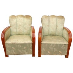 Pair of Art Deco Hungarian Club Chairs