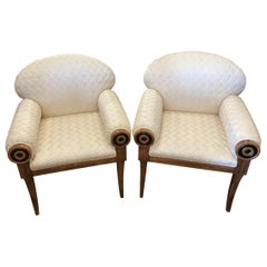Pair of Art Deco Inspired Midcentury Club Chairs
