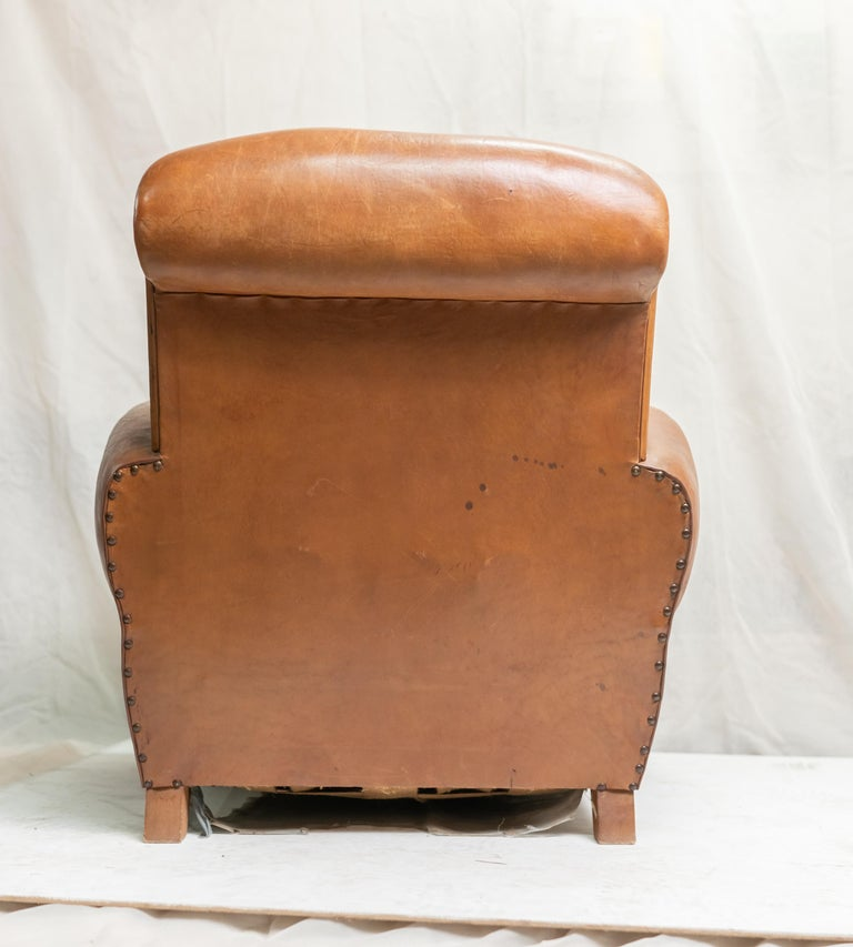 Pair of Art Deco Leather Club Chairs For Sale 15