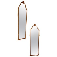 Pair of Art Deco Long Gilt Wall Mirrors
