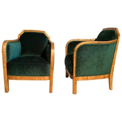 Pair of Art Deco Lounge Chairs D427