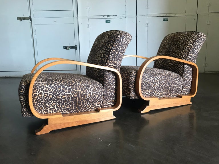 Pair of Art Deco Lounge Chairs For Sale 3