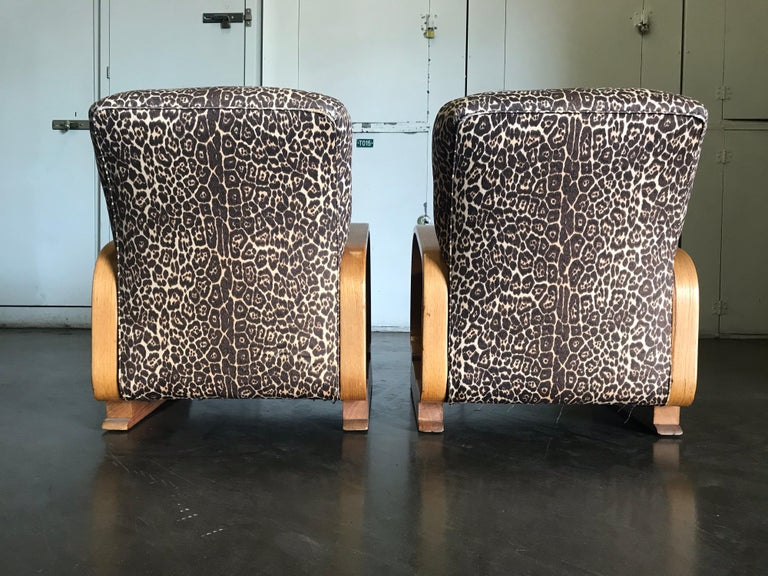 Pair of Art Deco Lounge Chairs For Sale 4