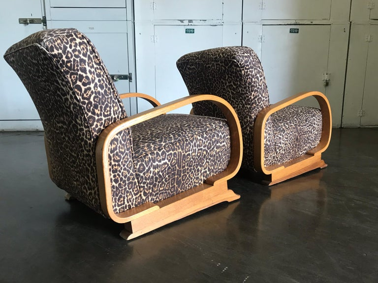 Pair of Art Deco Lounge Chairs For Sale 6