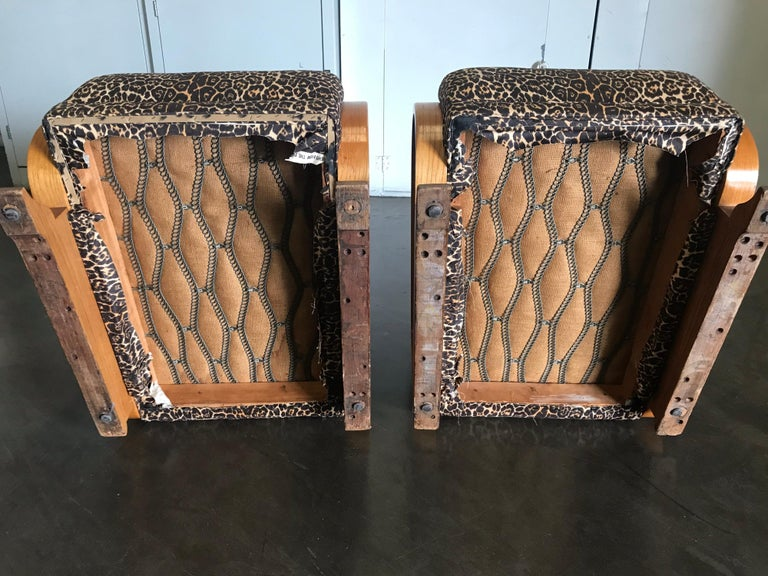 Pair of Art Deco Lounge Chairs For Sale 7