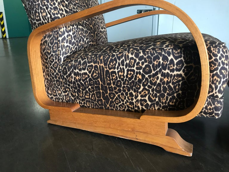 Unknown Pair of Art Deco Lounge Chairs For Sale