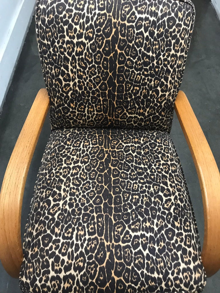 Woodwork Pair of Art Deco Lounge Chairs For Sale