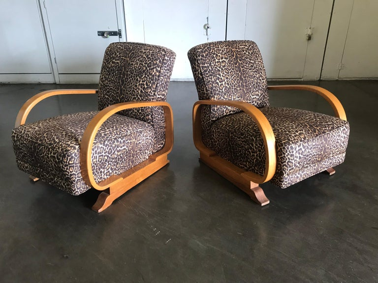 Pair of Art Deco Lounge Chairs For Sale 1