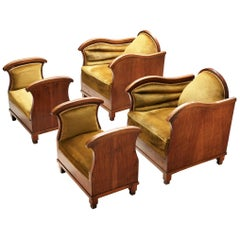 Pair of Art Deco Lounge Chairs