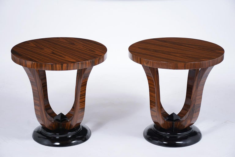 French Pair of Vintage Art Deco Side Tables For Sale