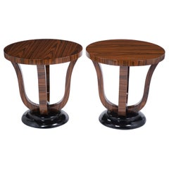 Pair of Vintage Art Deco Side Tables