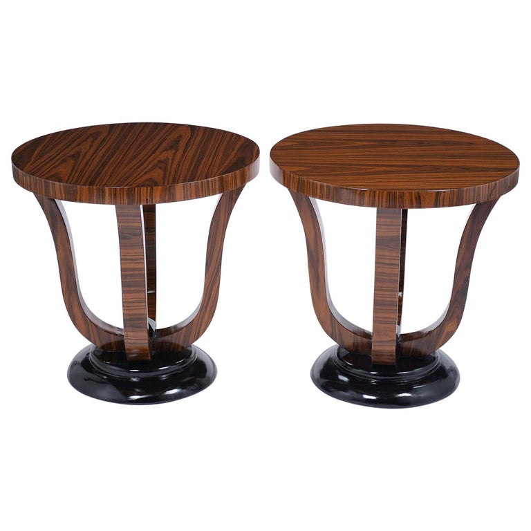 Pair of Vintage Art Deco Side Tables For Sale